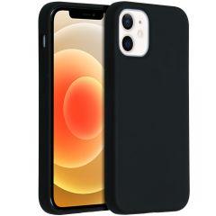 Accezz Coque Liquid Silicone iPhone 12 Mini - Noir