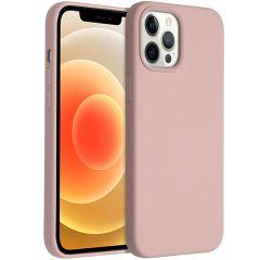 Accezz Coque Liquid Silicone iPhone 12 Pro Max - Rose