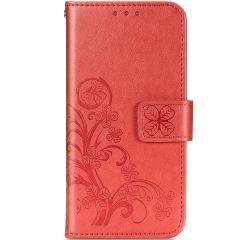 Etui de téléphone Fleurs de Trèfle Galaxy A42 - Rouge
