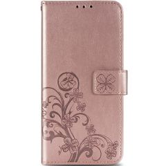 Etui de téléphone Fleurs de Trèfle Samsung Galaxy A42 - Rose