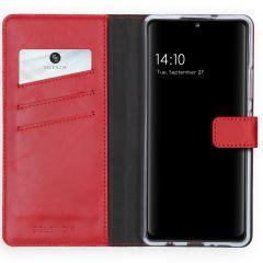Selencia Étui de téléphone en cuir véritable Samsung Galaxy A42
