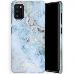 Selencia Coque Maya Fashion Samsung Galaxy A41 - Marble Blue