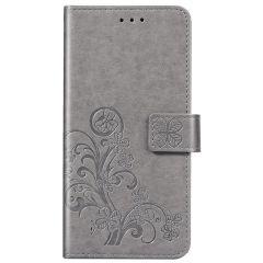 Etui de téléphone Fleurs de Trèfle Galaxy A21s - Gris