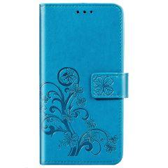 Etui de téléphone Fleurs de Trèfle Galaxy A21s - Turquoise