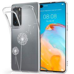 iMoshion Coque Design Huawei P40 - Pissenlit - Blanc