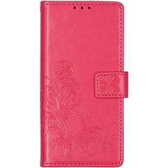 Etui de téléphone Fleurs de Trèfle Galaxy A21s - Fuchsia