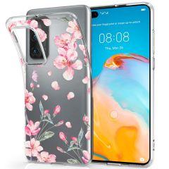 iMoshion Coque Design Huawei P40 - Fleur - Rose