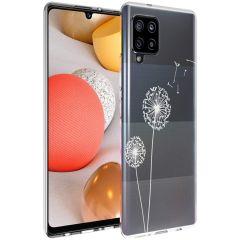 iMoshion Coque Design Samsung Galaxy A42 - Pissenlit - Blanc