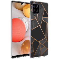 iMoshion Coque Design Galaxy A42 - Cuive graphique - Noir / Dorée