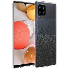 iMoshion Coque Design Samsung Galaxy A42 - Eclaboussures - Noir