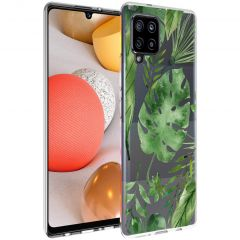 iMoshion Coque Design Samsung Galaxy A42 - Feuilles - Vert