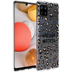 iMoshion Coque Design Samsung Galaxy A42 - Léopard - Brun / Noir