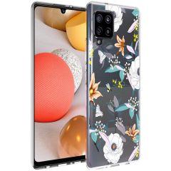 iMoshion Coque Design Samsung Galaxy A42 - Fleur - Blanc
