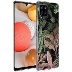 iMoshion Coque Design Samsung Galaxy A42 - Jungle - Vert / Rose