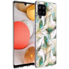 iMoshion Coque Design Samsung Galaxy A42 - Paon - Vert / Dorée