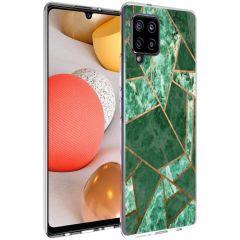 iMoshion Coque Design Galaxy A42 - Cuive graphique - Vert / Dorée