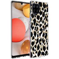 iMoshion Coque Design Samsung Galaxy A42 - Léopard - Dorée / Noir
