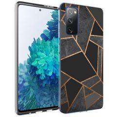 iMoshion Coque Design Galaxy S20 FE - Cuive graphique - Noir / Dorée