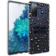 iMoshion Coque Design Samsung Galaxy S20 FE - Léopard - Brun / Noir