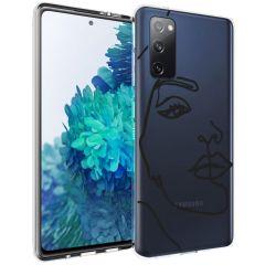 iMoshion Coque Design Samsung Galaxy S20 FE - Visage abstrait - Noir