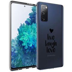 iMoshion Coque Design Samsung Galaxy S20 FE - Live Laugh Love - Noir