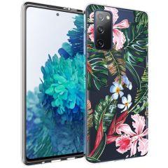 iMoshion Coque Design Samsung Galaxy S20 FE - Jungle - Vert / Rose