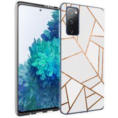 iMoshion Coque Design Galaxy S20 FE - Cuive graphique - Blanc / Dorée