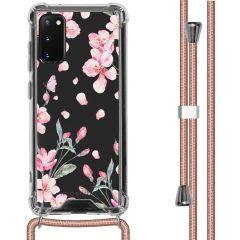 iMoshion Coque Design avec cordon Samsung Galaxy S20 - Fleur - Rose