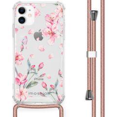 iMoshion Coque Design avec cordon iPhone 11 - Fleur - Rose