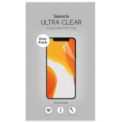 Selencia Protection d'écran Duo Pack Ultra Clear iPhone 12 Mini