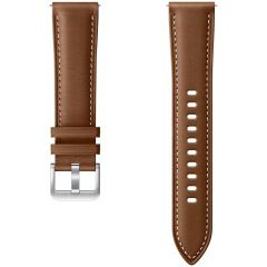 Samsung Bracelet Cuir Galaxy Watch Active 2 / Watch 3 41mm - Brun