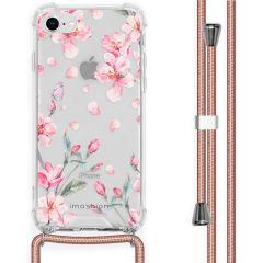 iMoshion Coque Design avec cordon iPhone SE (2020) / 8 / 7 - Fleur