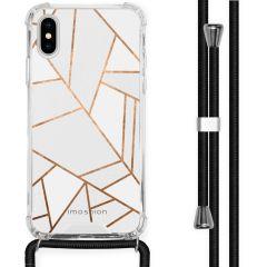 iMoshion Coque Design avec cordon iPhone X / Xs - Cuive graphique