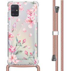 iMoshion Coque Design avec cordon Samsung Galaxy A51 - Fleur - Rose