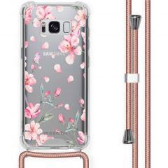 iMoshion Coque Design avec cordon Samsung Galaxy S8 - Fleur - Rose