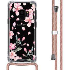 iMoshion Coque Design avec cordon Samsung Galaxy S9 - Fleur - Rose