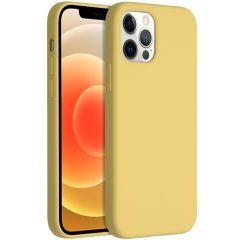 Accezz Coque Liquid Silicone iPhone 12 (Pro) - Jaune
