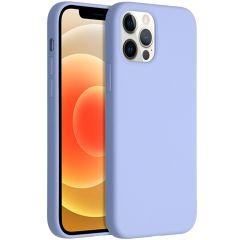 Accezz Coque Liquid Silicone iPhone 12 (Pro) - Violet