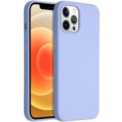 Accezz Coque Liquid Silicone iPhone 12 Pro Max - Violet