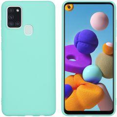 iMoshion Coque Color Samsung Galaxy A21s -  Menthe verte