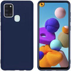 iMoshion Coque Color Samsung Galaxy A21s -  Bleu foncé