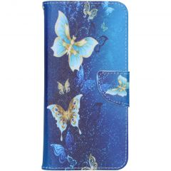 Coque silicone design Samsung Galaxy A21s - Blue Butterfly