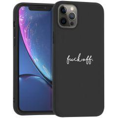 iMoshion Coque Design iPhone 12 Pro Max - Fuck Off - Noir