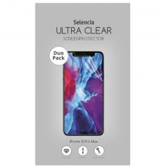 Selencia Protection d'écran Duo Pack Ultra Clear iPhone 12 Pro Max