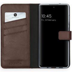 Selencia Étui de téléphone en cuir véritable Samsung Galaxy S20 FE