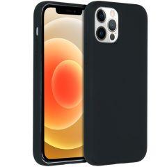 Accezz Coque Liquid Silicone iPhone 12 Pro Max - Noir