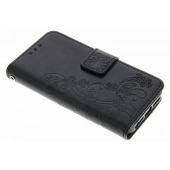 Etui de téléphone Fleurs de Trèfle iPhone SE / 5 / 5s - Noir