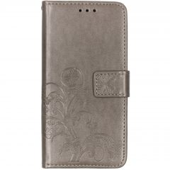 Etui de téléphone Fleurs de Trèfle Samsung Galaxy A10 - Gris