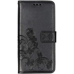 Etui de téléphone Fleurs de Trèfle Samsung Galaxy A10 - Noir