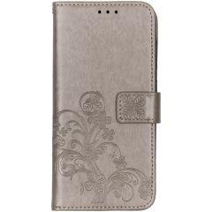 Etui de téléphone Fleurs de Trèfle Samsung Galaxy A70 - Gris